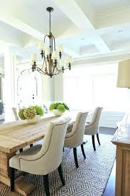 Chandelier Size Dining Room Standard Table