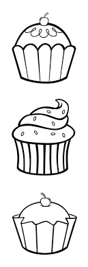 simple Cupcake Cartoon Drawing