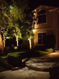 LED landscape lighting on this Orange County CA home in Coto De Caza