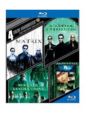100 Blu Home Video WARNER HOME VIDEO 4 Film Favorites The Matrix Collection Ray