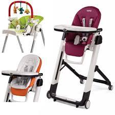 Peg Perego Siesta High Chair, With Baby Cushion & Play Bar (Berry)