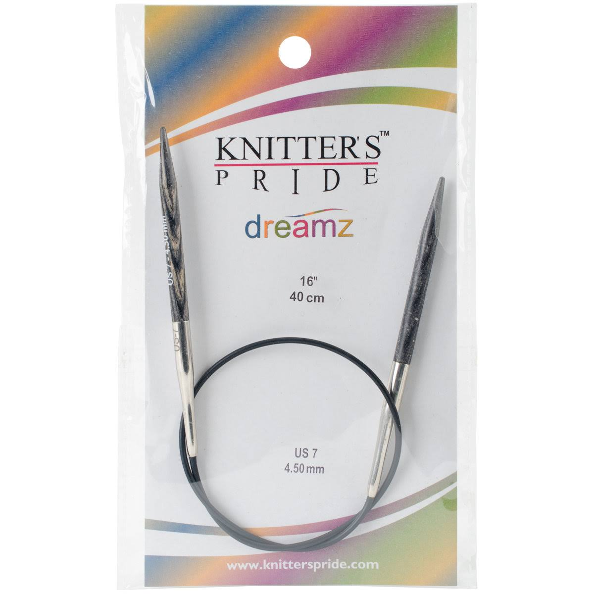"Knitters Pride Dreamz Circular Knitting Needles - 16"", Size 7"