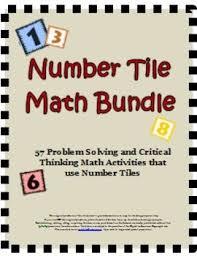 number tiles math bundle 57 problem solving critical thinking