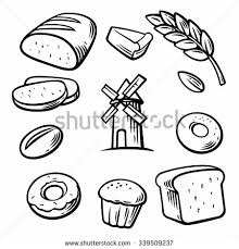Set icon for bakery Engraving vintage vector black illustration Isolated on white background