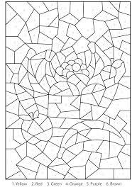 Free Color By Number Printables Coloring Worksheets For Kindergarten Really