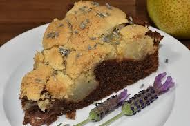 birnenkuchen mit lavendel veggie tobi