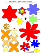 Printable Pattern For Flower Layered Paper Cuts