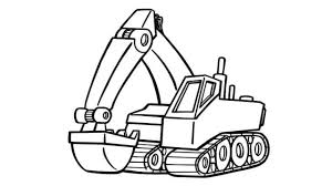 100 Truck Color Pages How To Draw Excavator Ing S For Kids