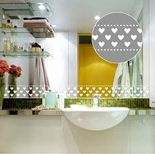 wandaufkleber für badezimmer küche fenster spiegel home deko transparent 10 cm x 10m