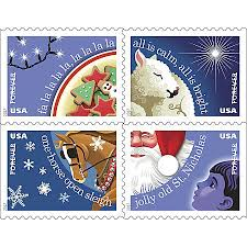 USPS Holiday FOREVER Postage Stamps Book 20 Stamps by fice