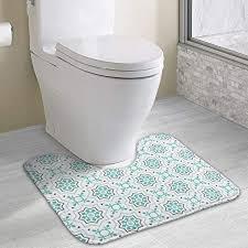 hoklcvd personalized toilet carpet geometric shapes wc u