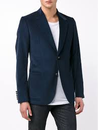 gucci tailored corduroy jacket in blue for men lyst