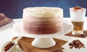 ombré torte mit schoko vanille geschmack