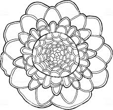 Mandala Fleur Exotique Vecteur élément Isolé Tropical Floral