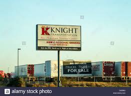 100 Knight Trucking Company Transportation Sign A California Stock Photo