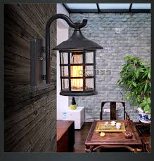 antique rustic iron waterproof outdoor wall l vintage kerosene