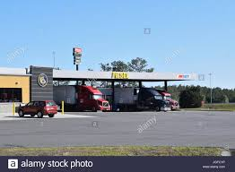 Gas Station And Pilot Truck Stop In Southern Georgia Off I-75 Stock ...