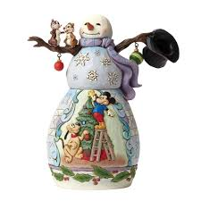 Jim Shore Halloween Uk by Disney Traditions Snowman With Mickey And Pluto Chip And Dale 4046019