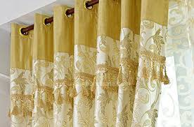 Noise Reduction Curtains Uk by Online Noise Reducing Floral Print Damask Yellow Curtains Uk