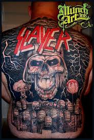 Slayer Tattoos Mareks Epic Slayer Back Slayer Metal