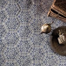 seville blue hexagon porcelain superstore