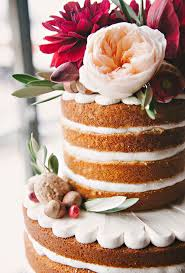 Cake Layers Themselves Are Visible Not Only Can They Be Very Pretty And Elegantly Rustic Dead Easy To Achieve From A Decoration Standpoint
