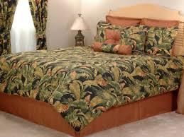 Kokomo Green and Orange Palm Tree Bedding