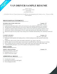 Resume For Truck Driver Samples Sample Example