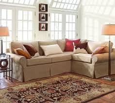 PB Basic Slipcovered 3 Piece Sectional
