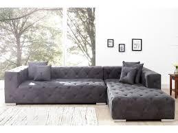 canape gris design canapé d angle design matelassée gris 290 cm