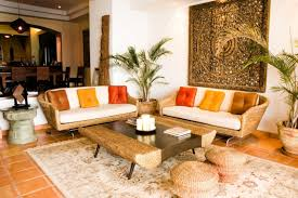 Living Room Tropical Design Color Furniture