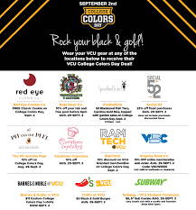 Black and gold runs deep this College Colors Day
