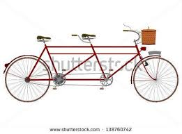 Vintage Tandem Bike For Two With Basket Clipart Transparent Background