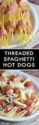 Halloween Hotdog Fingers by Threaded Spaghetti Dog Bites