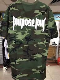 2017 new fashion justin bieber purpose tour t shirt short sleeve