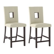 White Leatherette Counter Height Dining Chairs, Set Of 2 — CorLiving ... White Fniture Co Mid Century Modern Walnut Cane Ding Chairs Bross White Fabric Chair Resale Fniture Of America Livada I Cm3170whsc2pk Coastal Set 2 Leatherette Counter Height Corliving Hillsdale Bayberry Of 5791 802 4 Novo Shop Tyler Rustic Antique By Foa On 4681012 Pieces Leather In Black Brown Sydnea Acrylic Wood Finished Amazoncom Urbanmod