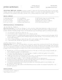 Resume Retail Assistant Sale Examples Sample For Manager