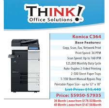 Konica Minolta Bizhub Color Copier C364 Denver THINK