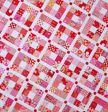 Red Pepper Quilts Strawberry Nine Patch Quilt