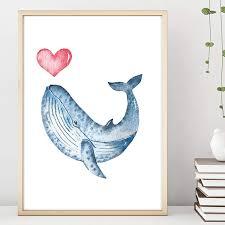 bilder kunstwerke wal blauwal fisch meerestier herz ozean