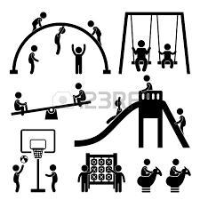 Children Playing At Outdoor Stick Figure Pictogram Park Clipart Outside Playground