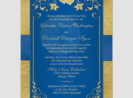 Blue And Gold Wedding Invitations Lovely Invitation Royal Faux Foil Floral