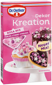 dekor kreation rosa mix dekorieren mit dr oetker