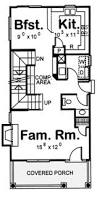 Craftsman Style Floor Plans Bungalow by Craftsman Style House Plan 3 Beds 3 Baths 1473 Sq Ft Plan 20