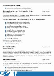 Daycare Resume Examples Elegant Funky Child Care Sample Best Mold Of Frightening Cv No Experience Australia