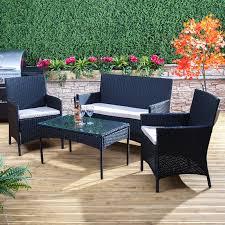 Ebay Patio Furniture Uk by Poly Rattan Garden Furniture Set