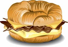 Breakfast Croissant Sandwich Stock Illustration