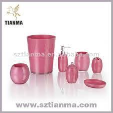 inspiring pink bathroom accessories sets and pink bathroom