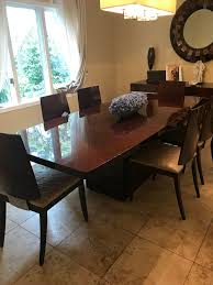 Italian Lacquered Dining Room Set With Buffet