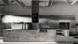 Concrete And Terrazzo Furniture Feature In RitzGhougassians Minimal Cafe Interior